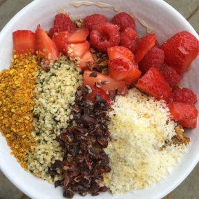 Gluten-free acai bowl from Beaming Organic Superfood Cafe
