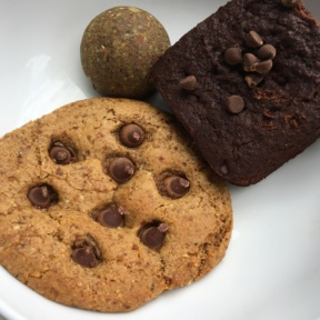 Gluten-free cookies and brownie from Beaming Organic Superfood Cafe