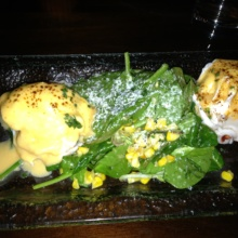 Gluten-free lobster eggs Benedict from Beauty & Essex