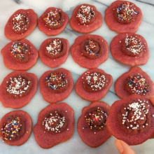 Beet Sugar Cookies with Beet Icing