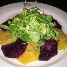 Gluten-free beet salad from Belgian Beer Cafe