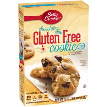 Gluten free chocolate chip cookie mix by Betty Crocker