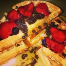 Gluten-free chocolate chip waffles from Big Daddys