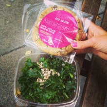 Gluten-free vegan salad and cookie from Blossom Du Jour