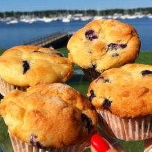 Four Gluten-free Blueberry Muffins