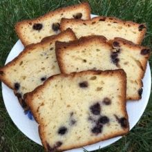 Gluten-free Blueberry Pound Cake