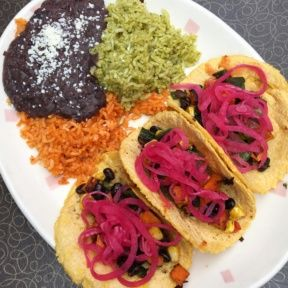 Gluten-free sweet potato tacos from Border Grill