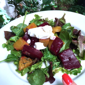 Gluten-free beet salad from Bottino