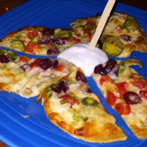 Gluten-free quesadilla from Boxcar Cantina