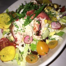 Gluten-free lobster salad from Brasserie Ruhlmann