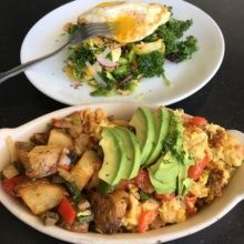 Gluten-free brunch dishes from Bruhaus