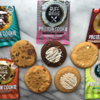 Delicious gluten-free protein cookies by Buff Bake