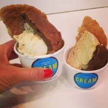 Gluten-free ice cream sandwich from CREAM