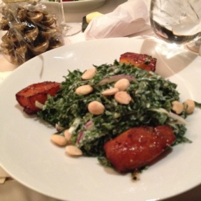 Gluten-free kale salad from Cafe Boulud