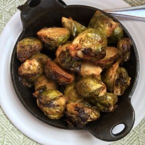 Gluten-free brussels sprouts from Cafe Gratitude
