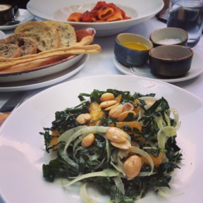 Gluten-free salad from Cafe Hugo