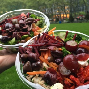 2 Gluten-free salads from Cafe Metro