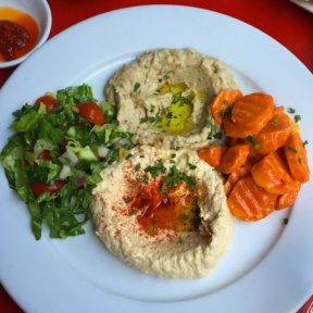 Gluten-free hummus from Cafe Mogador