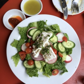 Gluten-free salad from Cafe Mogador