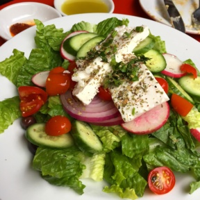 Gluten-free Greek salad from Cafe Mogador