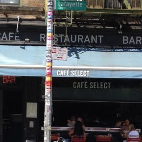 Cafe Select in SoHo NYC