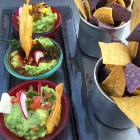 Gluten-free chips and guacamole from Cantina Rooftop