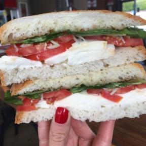 Gluten-free caprese sandwich from Capicola's
