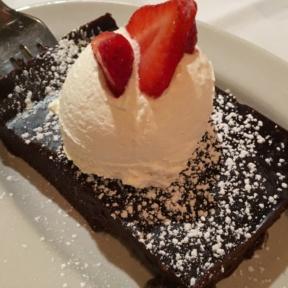 Gluten-free flourless chocolate cake from Carmine's