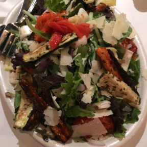 Gluten-free salad with veggies from Carmine's
