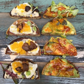 Gluten-free toasts from Chalk Point Kitchen