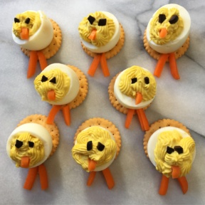 Gluten-free chick deviled eggs for Easter