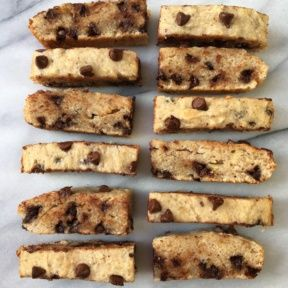 Gluten-free Chocolate Chip Hazelnut Bread slices