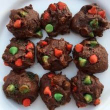 Chocolate Fudge Yogurt Holiday Cookies