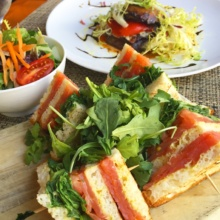 Gluten-free sandwich from Church & Dey at Millennium Hilton