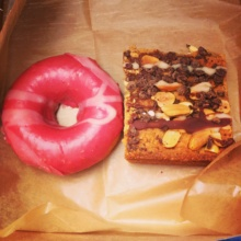 Gluten-free donut and bar from Cinnamon Snail
