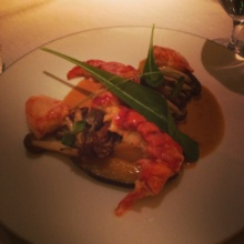 Gluten-free lobster entree from Clement at The Peninsula