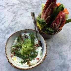 Gluten-free veggies and dip from Cleo
