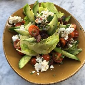 Gluten-free Greek salad from Cleo