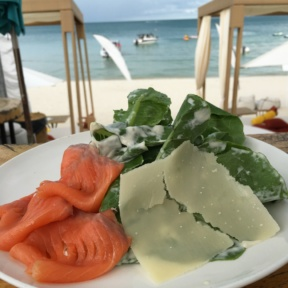 Gluten-free smoked salmon salad from Coast Beach Bar & Grill at Centara Grand
