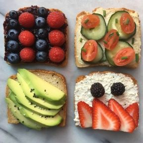 Gluten-free Colorful Toast Four Ways