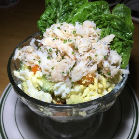 Gluten-free crab salad from Connie and Ted's