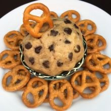 Gluten-free vegan Cookie Dough Dip with Pretzels