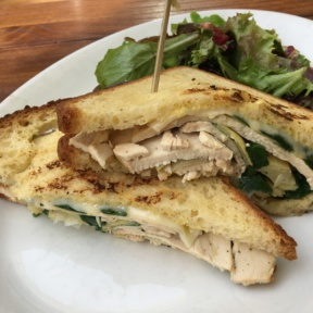 Gluten-free turkey sandwich from Coral Tree Cafe