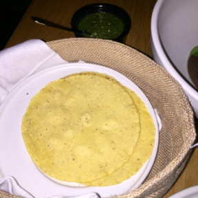 Gluten-free corn tortillas from Cosme