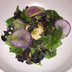 Gluten-free hummus salad from Cosme