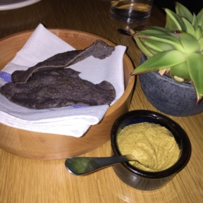 Gluten-free chips and dip from Cosme