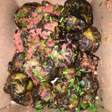Gluten-free brussels sprouts from Crave Fishbar