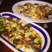 Gluten-free brussels sprouts and cauliflower from Crispo