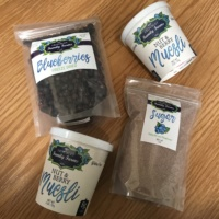 Assorted blueberry items by Critchley Family Farms