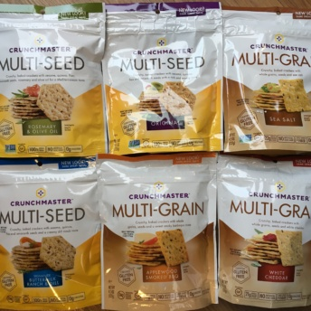 Gluten-free multi-grain crackers from Crunchmaster